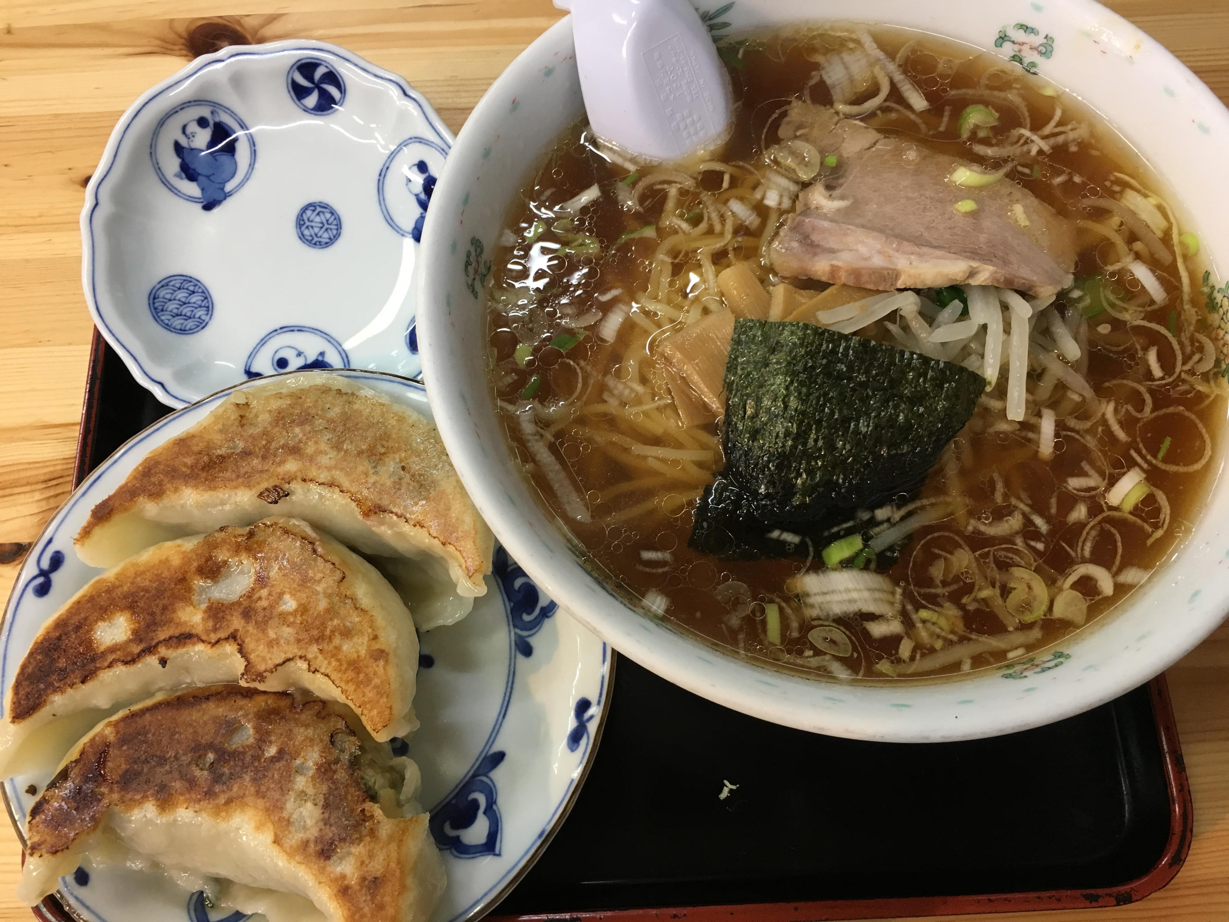上石神井駅徒歩2分、地元に愛され続けるラーメン店「一圓(いちえん)」ラーメン餃子ランチセット