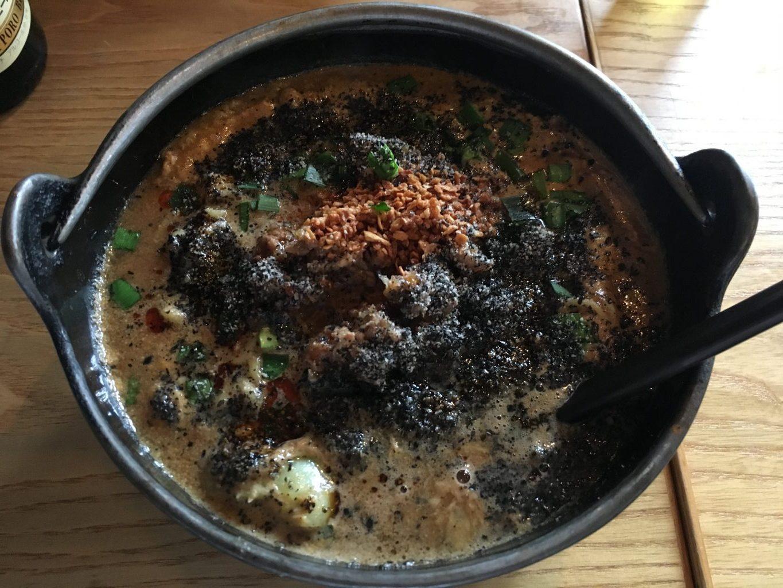 辻堂駅徒歩12分×まっくろな香ばしい個性派スープ「そばじん」黒胡麻担々麺